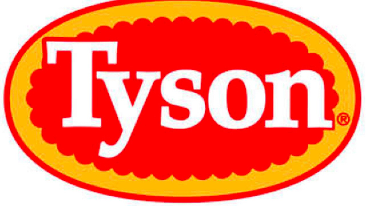 Tyson recalls 3,000 pounds of frozen chicken for possible contamination
