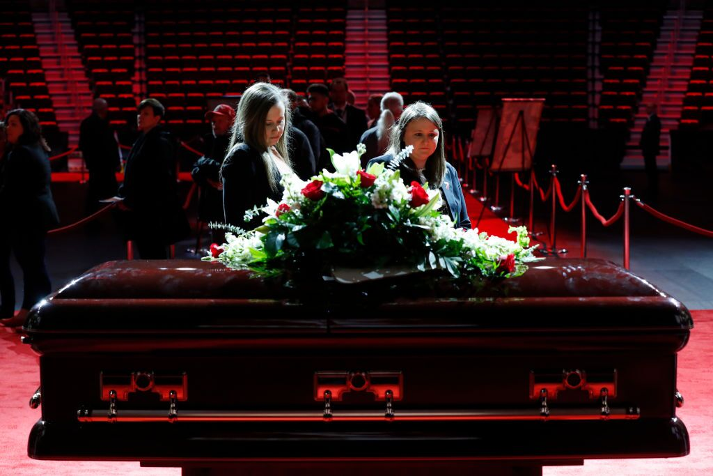 NHL Hall Of Famer Ted Lindsay Funeral