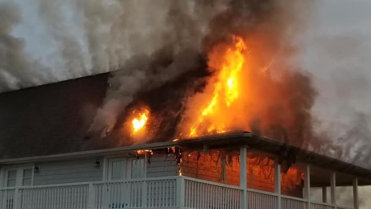 Currituck County home a total loss; lightning strike may be to blame