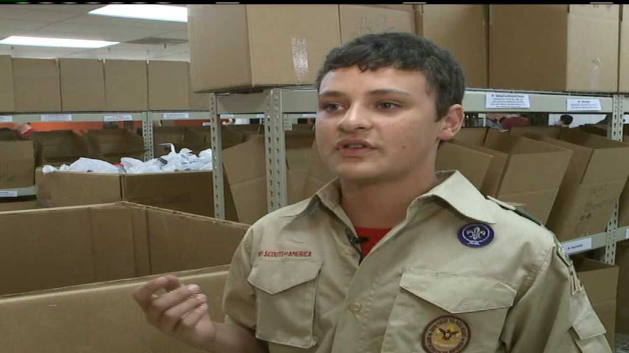 Boy Scouts collect over 1 million pounds of food for Utah Food Bank