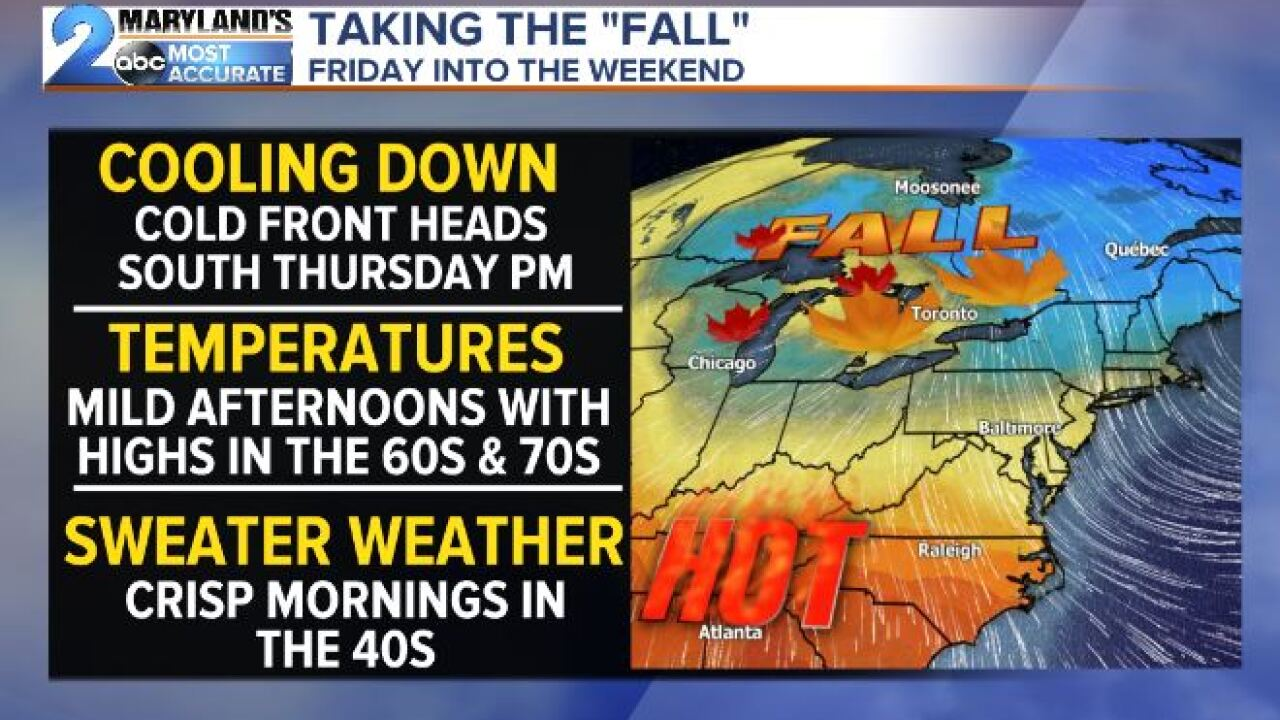 Fall Cooldown Coming Late Week