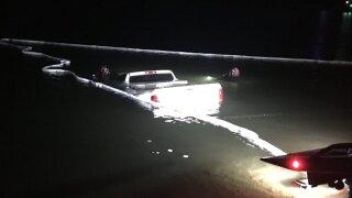 Truck into Lake Pleasant