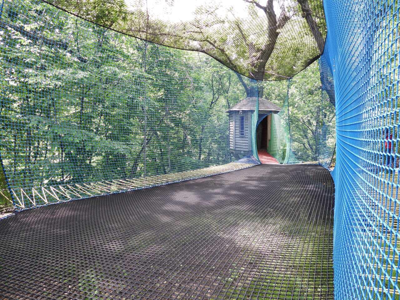 The trampoline area in Treetop Village..JPG