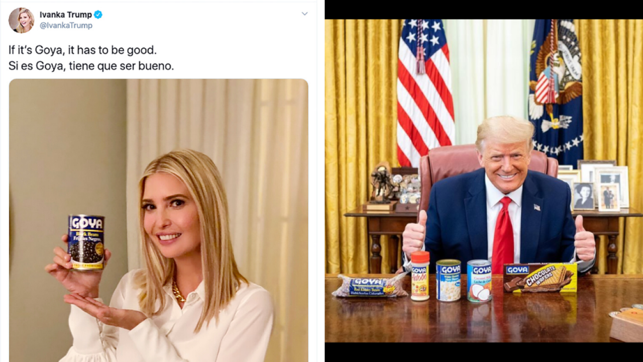 President Trump and his daughter promote Goya foods in possible ethics violation