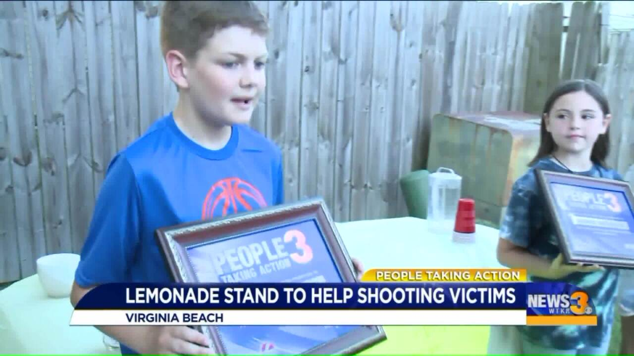 People Taking Action: Local kids' neighborhood lemonade stand shows they have big hearts!