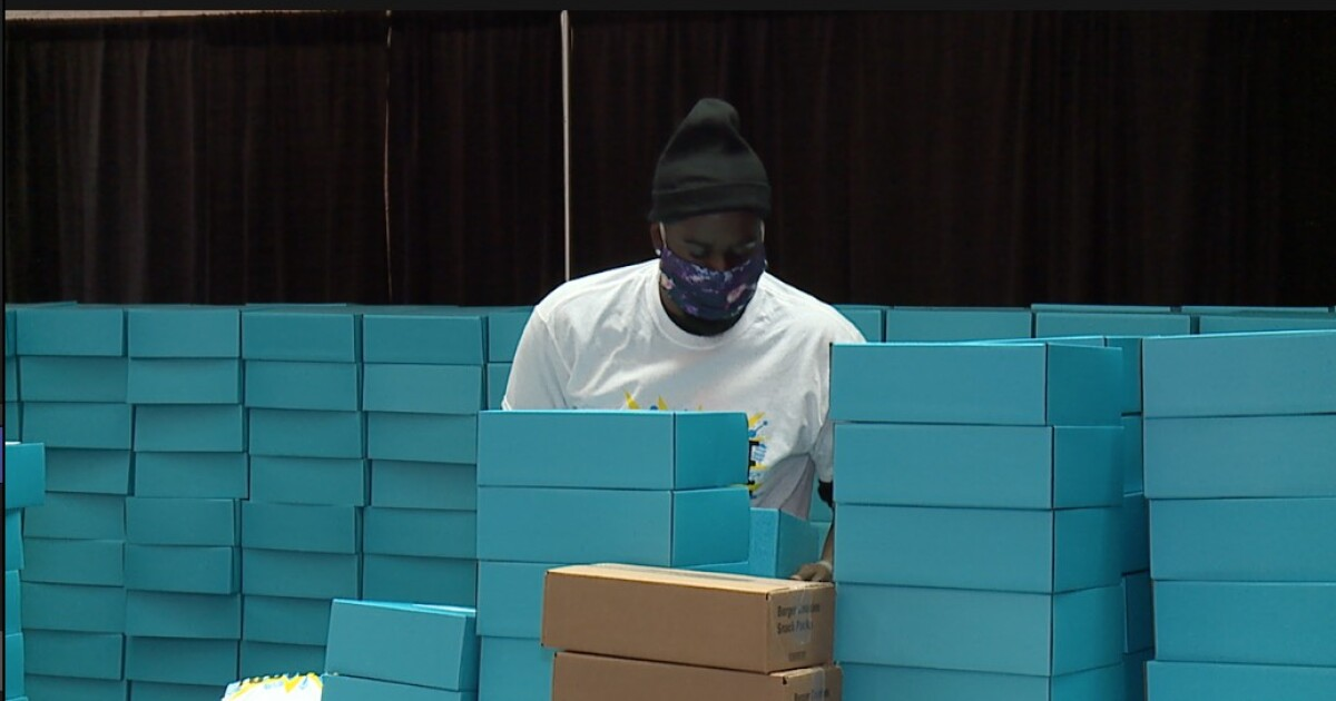 Youth pack boxes for virtual primary party