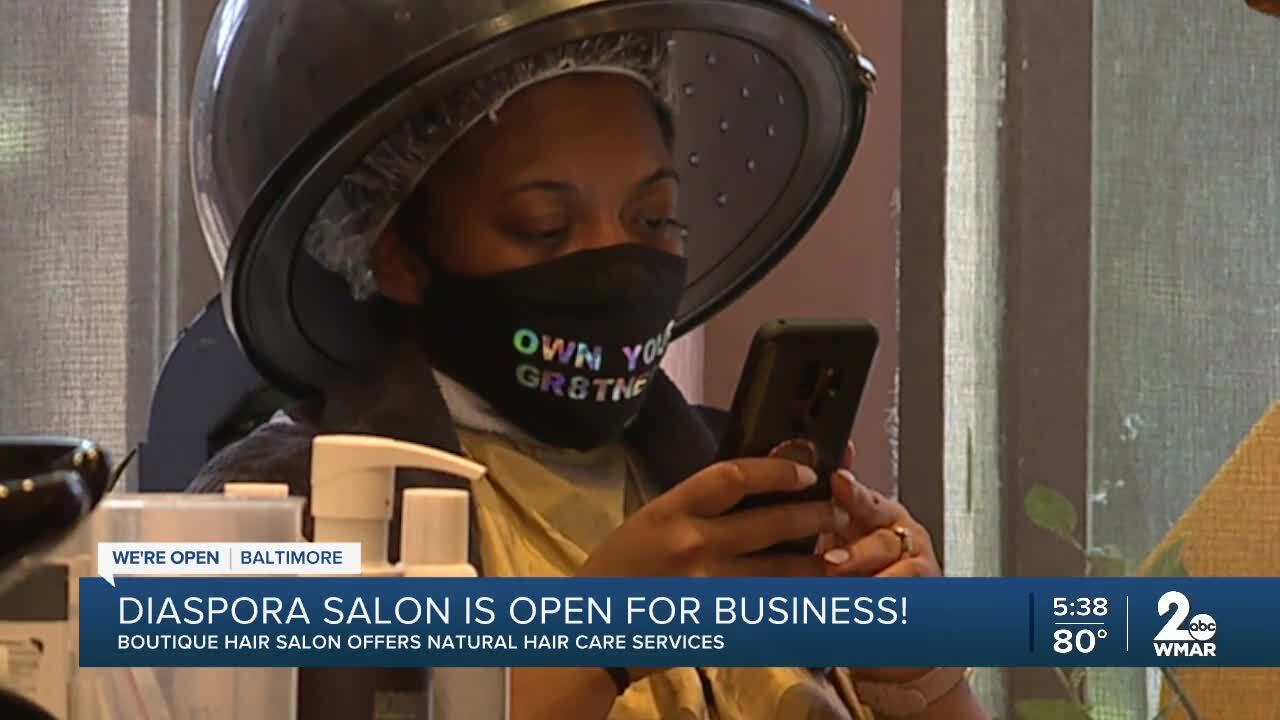 Diaspora Salon is open for business, offering natural hair care services