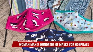 500 masks and counting: One woman's effort to help healthcare workers