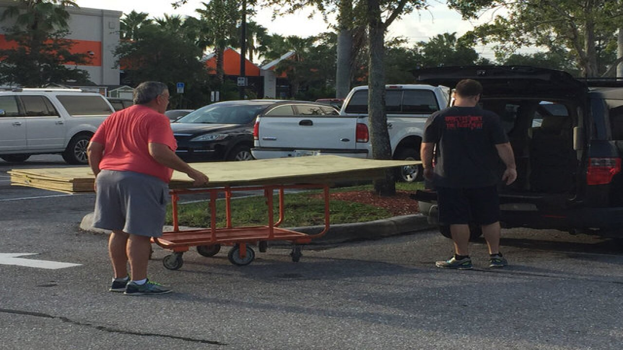 Florida residents stock up on hurricane supplies