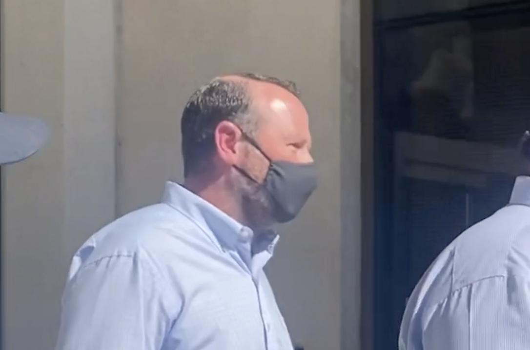JT Burnette leaving court after hearing the verdict