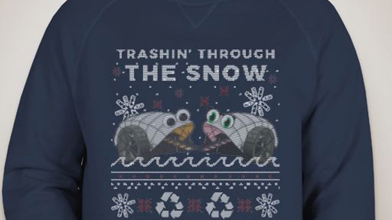 Trash Wheel X-Mas sweaters are back and support a good cause