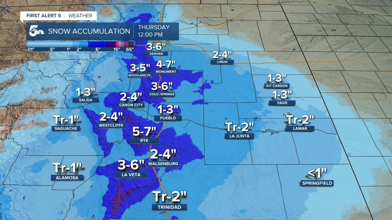 Snow Accumulation 2/24 - 2/25