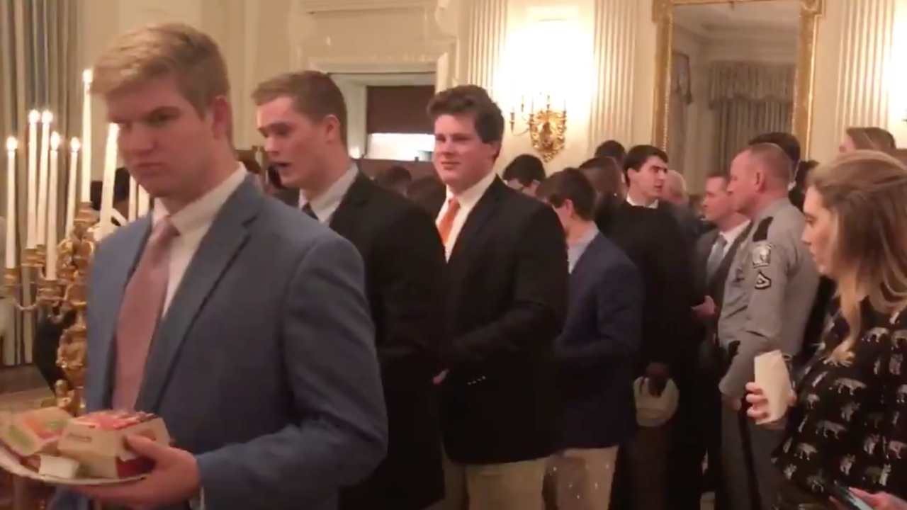 Clemson tigers white house dinner