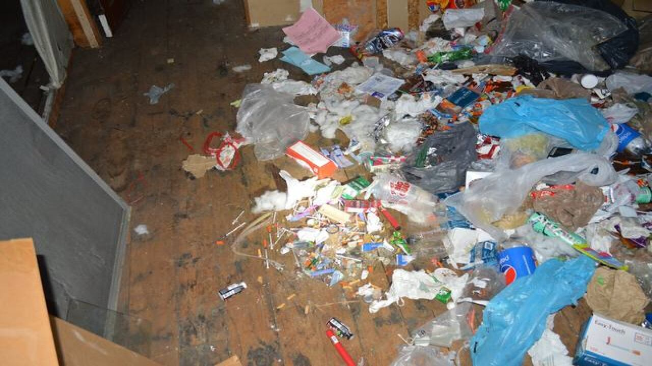 Home filled with needles & meth waste condemned