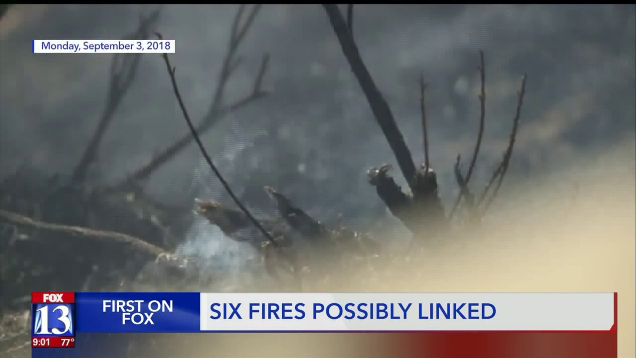 Investigators suspect 'spree arsonist' after six wildfires along I-80 in northern Utah