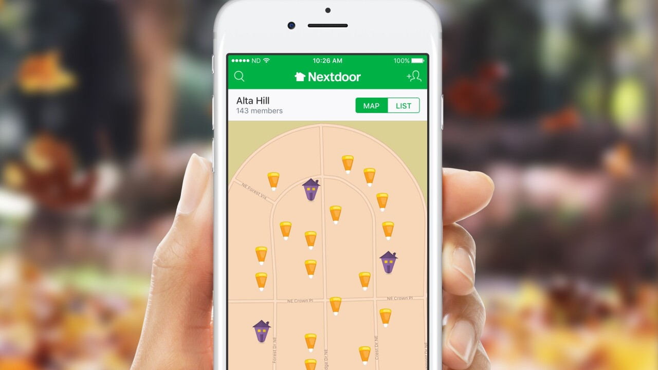 Nextdoor's Treat Map back for Halloween showing you the best streets for treats