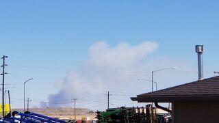 Smoke from fire near Carter, seen from KRTV in Great Falls