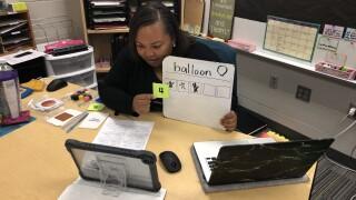 Educators teaching remotely