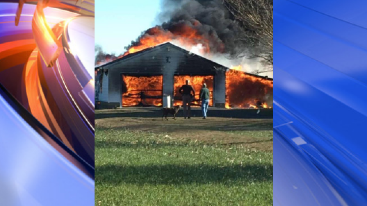 No injuries reported after 2-car garage fire on Eastern Shore