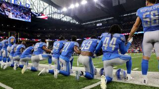 Fewer NFL players taking a knee for national anthem on Sunday
