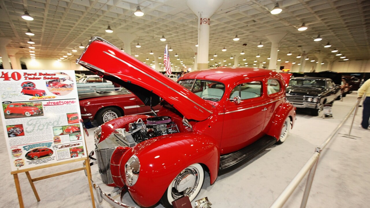 Image of 1940 Ford Deluxe Tudor Sedan. Courtesy of Cleveland Auto Show website.