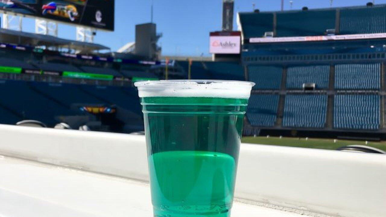 Jacksonville serving teal-colored food, beer