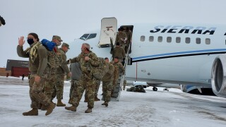 MT Soldiers return home