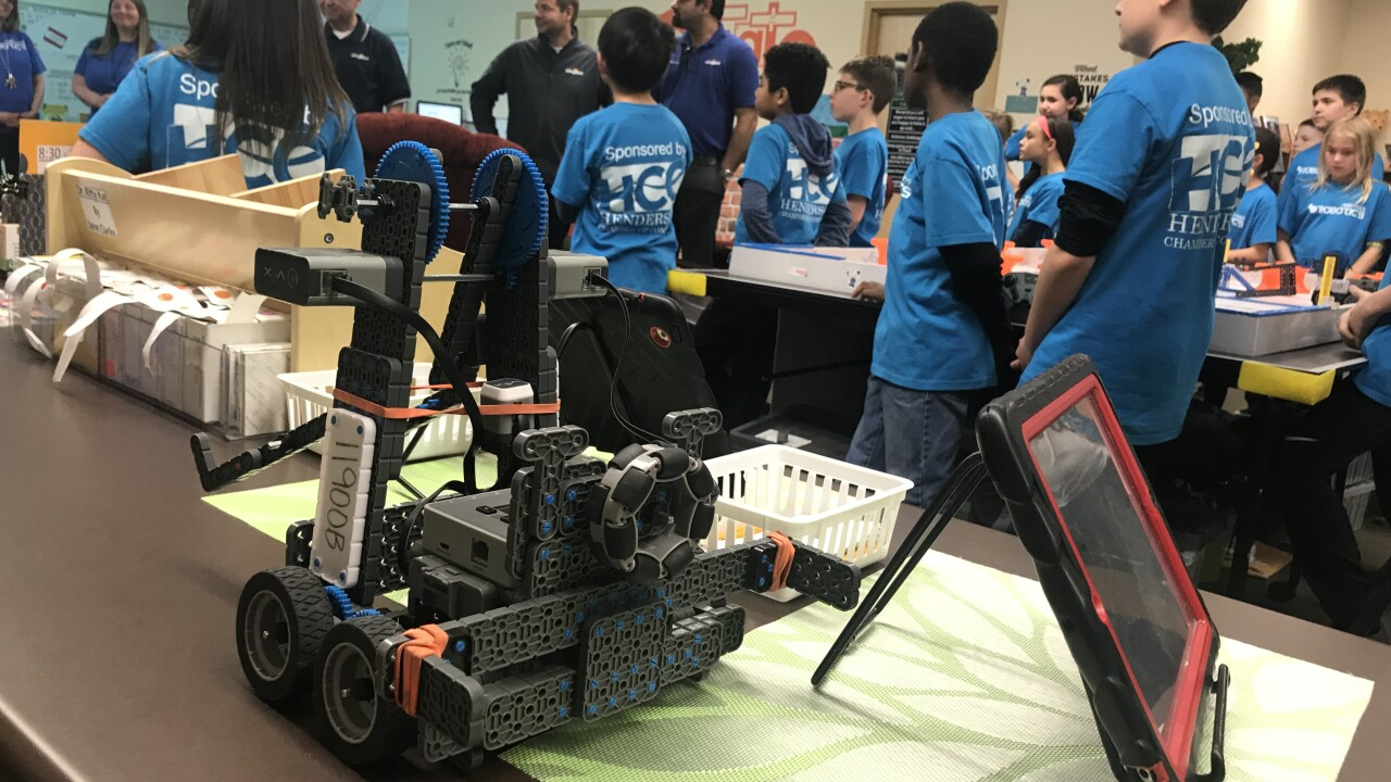 Henderson students learn engineering through robotics
