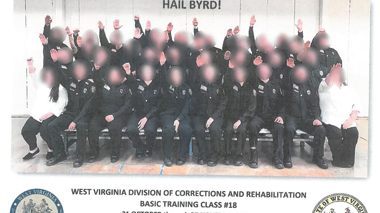 West Virginia suspends several after corrections officer class appears to give Nazi salute in photo