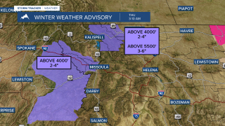 Winter Weather Advisories in place Thursday morning