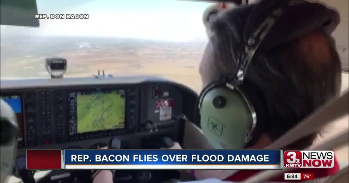 Rep. Bacon flies with Civil Air Patrol to view flood damage