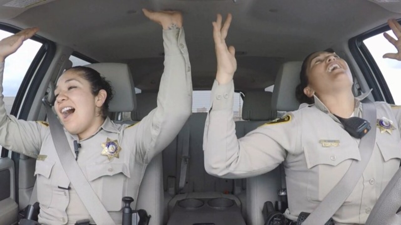 Las Vegas Police take on lip-sync challenge