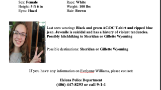 Missing Endangered Person Advisory issued for MT teen