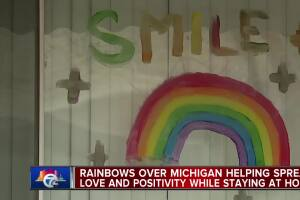 Rainbows over Michigan helping spread love and positivity while staying at home