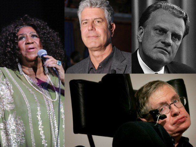 Celebrity deaths of 2018: Remembering those we've lost this year