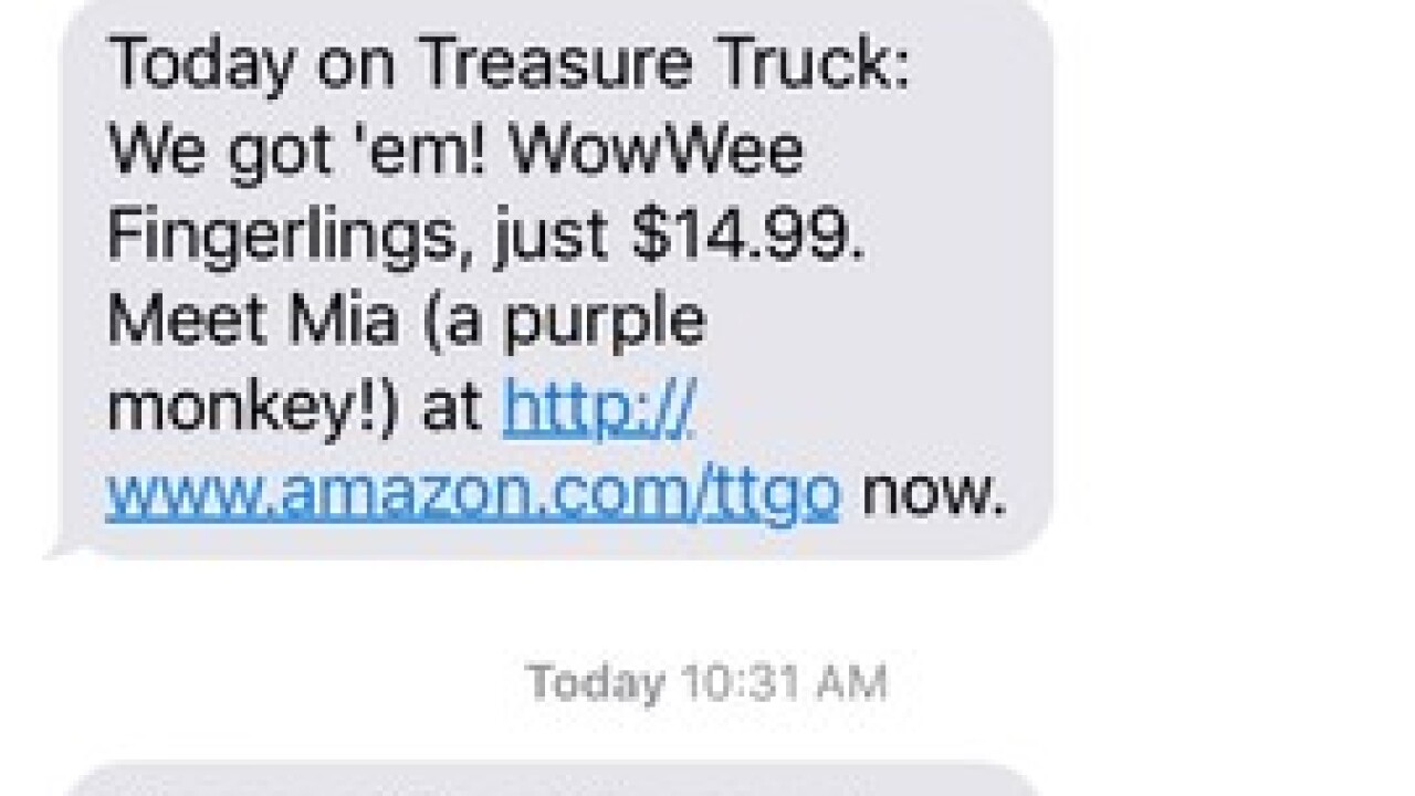 Hot toy items sold from Amazon Treasure Truck