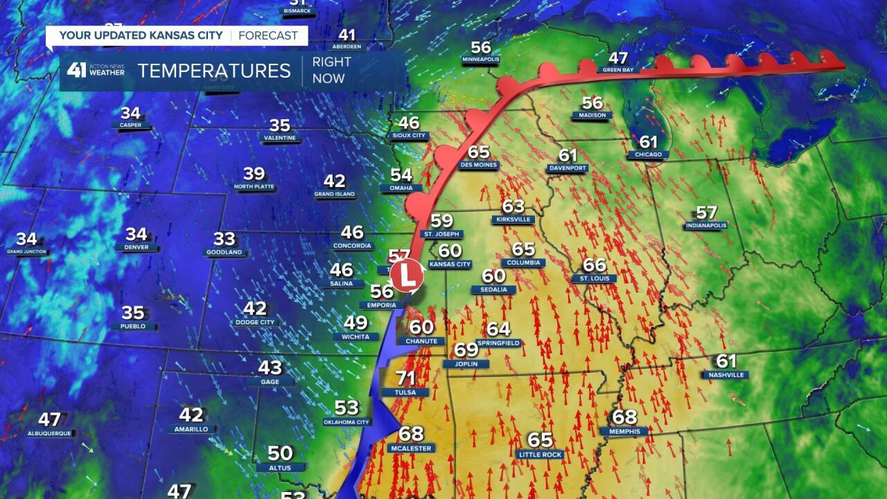 Surface Map At 7:15 AM