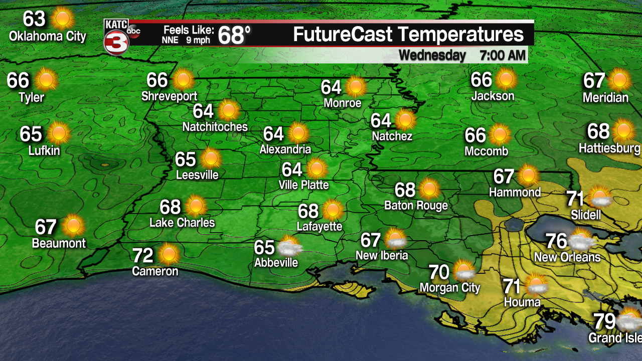 Rare cool front brings break from summer heat & humidity