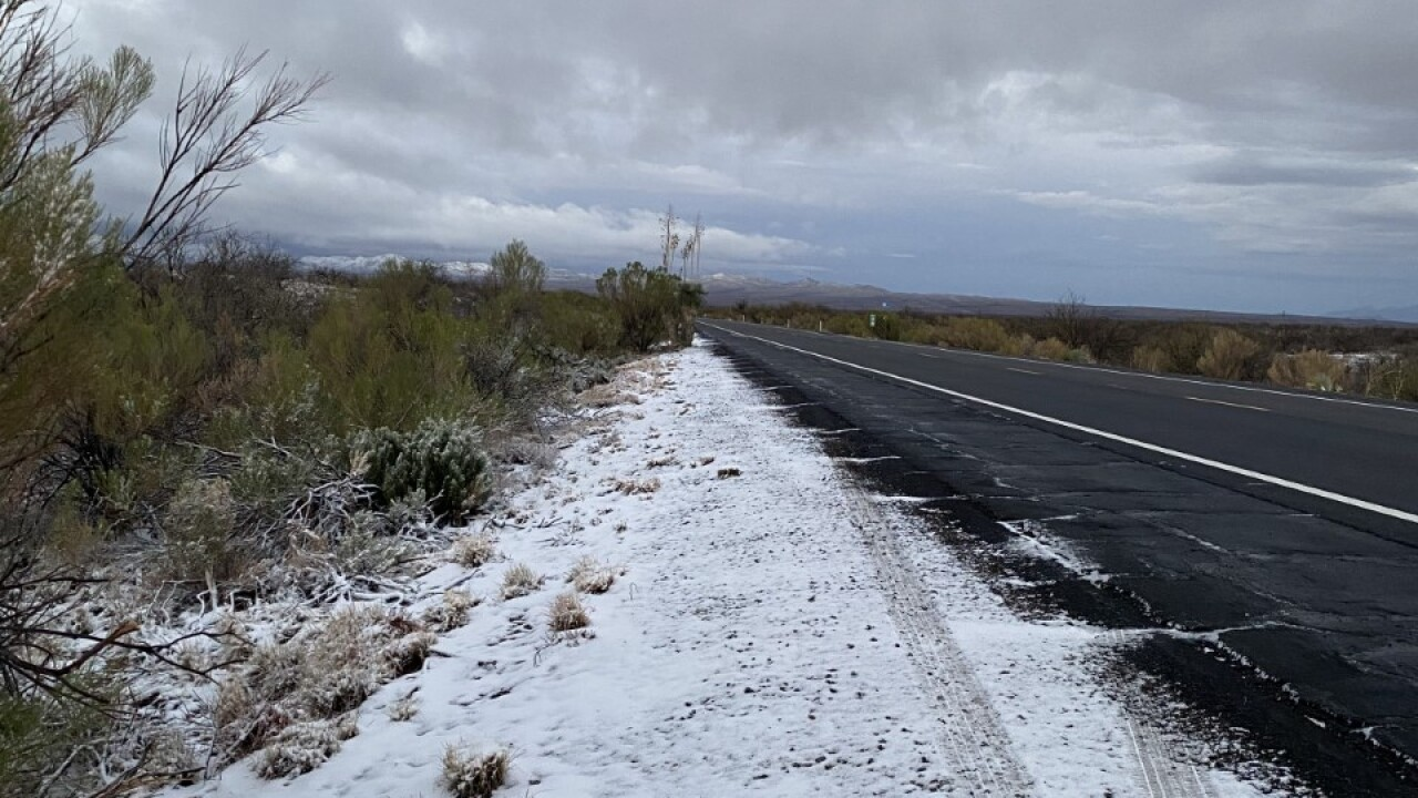 Snow off Highway 77 South of Oracle