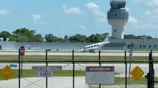Small plane makes emergency landing at Fort Lauderdale Executive Airport on July 19, 2021