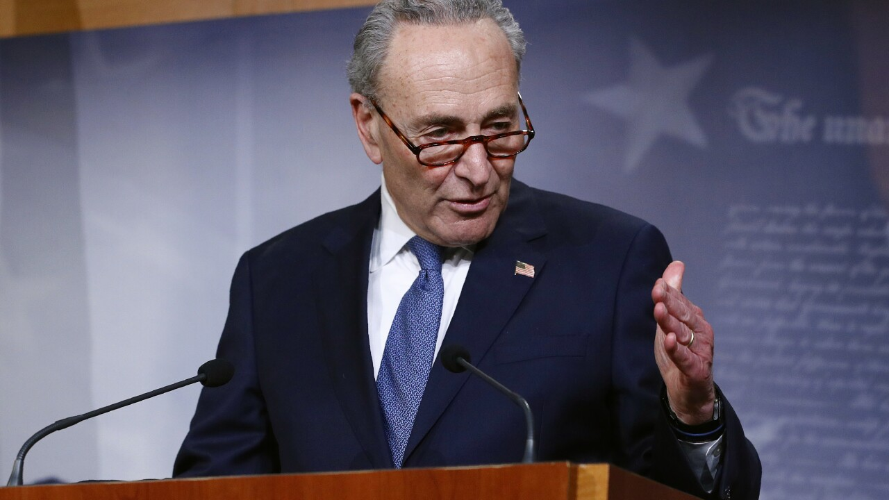 Trump, Schumer urge passage of stimulus bill
