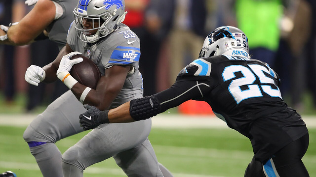 Kerryon Johnson's injury a concern for Lions after win over Panthers