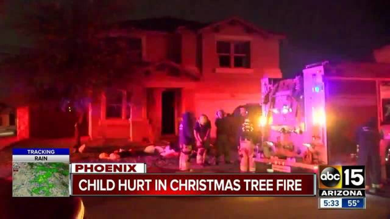 Boy Burned In Phoenix House Fire Christmas Tree Wiring Suspected As