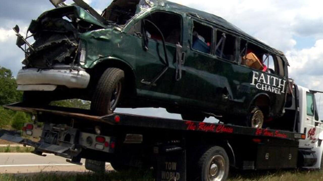 6 seriously injured in JoCo church van crash