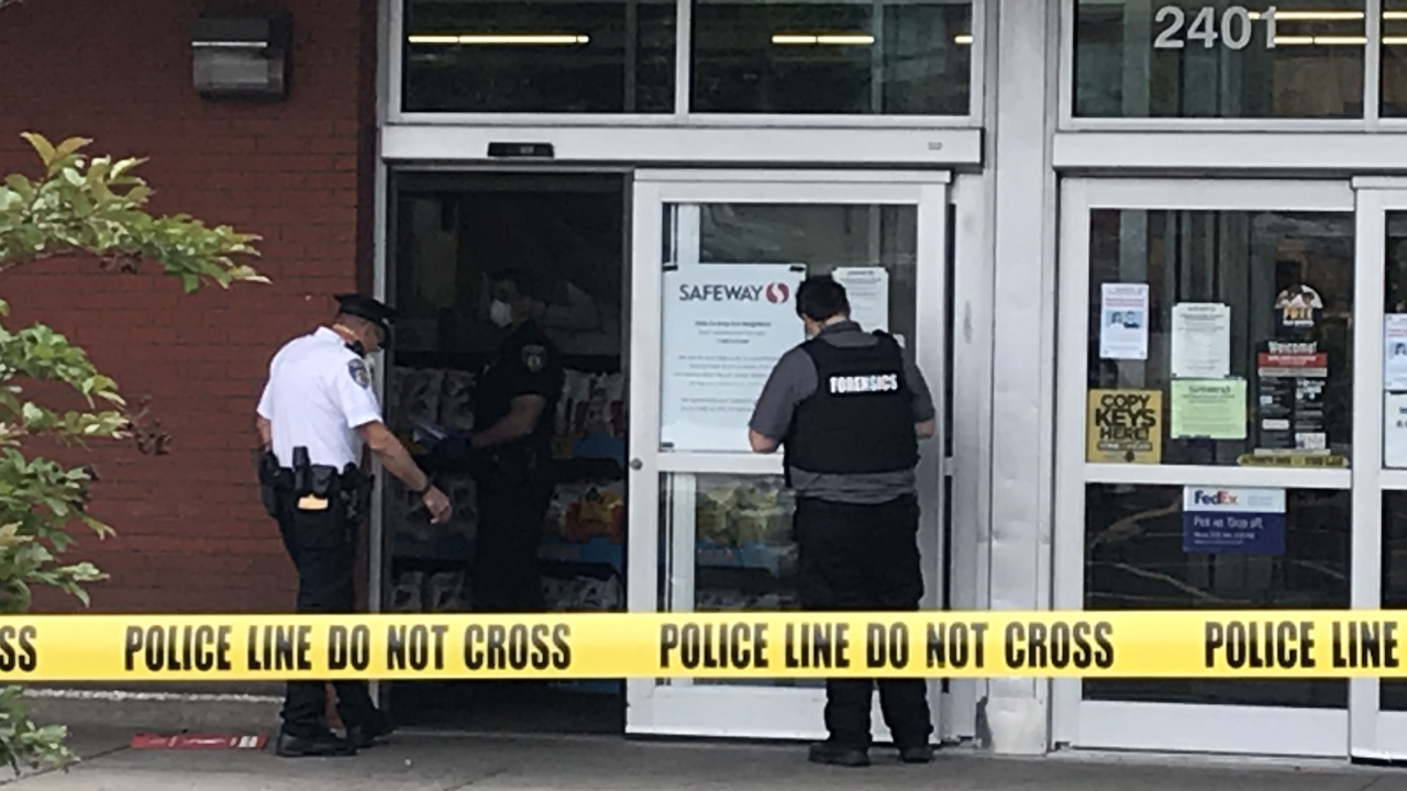 SAFEWAY SECURITY GUARD ROBBERY SHOOTING