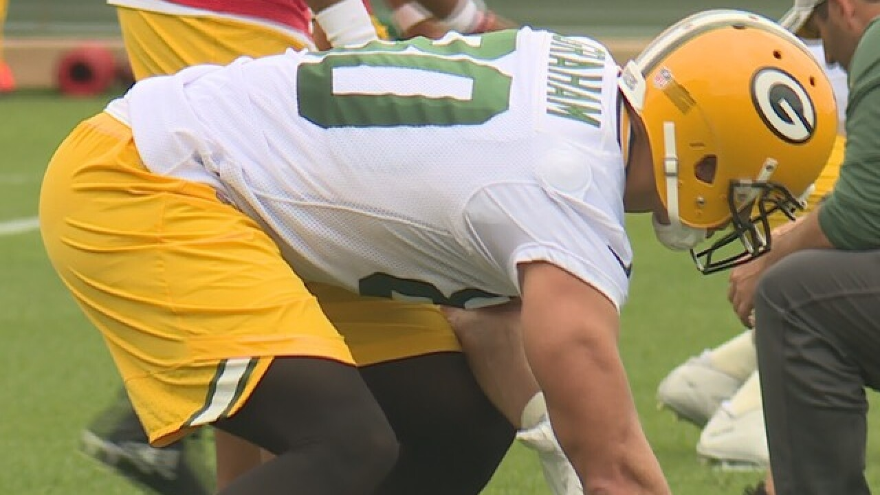Packers work through first padded practice