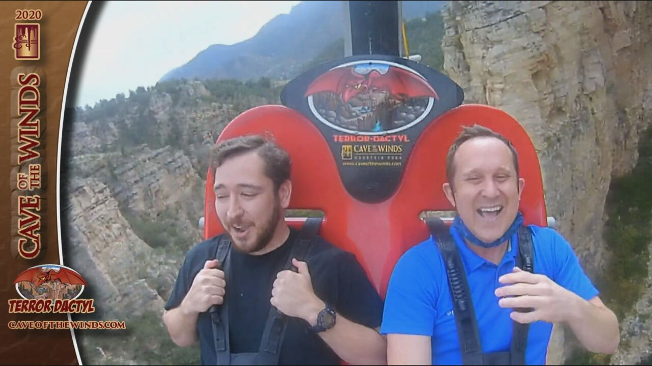 Terror-dactyl swing at Cave of the Winds
