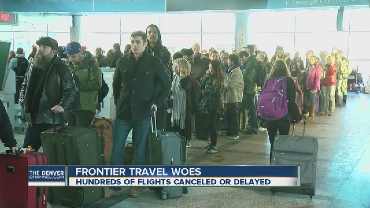 Frontier Airlines says bags on way