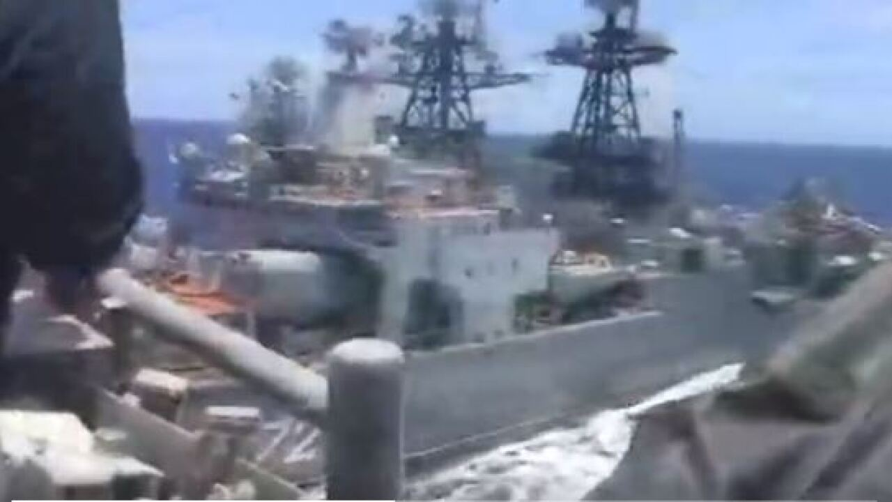 US and Russian warships nearly collide in thePacific