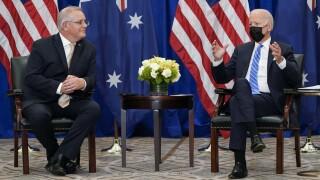 President Joe Biden, Australian PM Scott Morrison